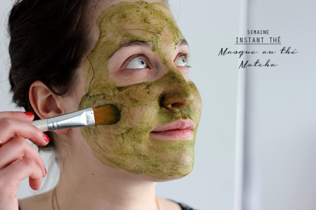 Application masque au thé matcha oh lovely place