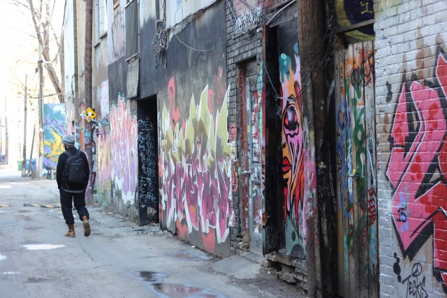 Graffiti Alley art Toronto Ontario Canada