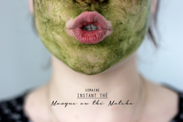 Masque au thé matcha oh lovely place